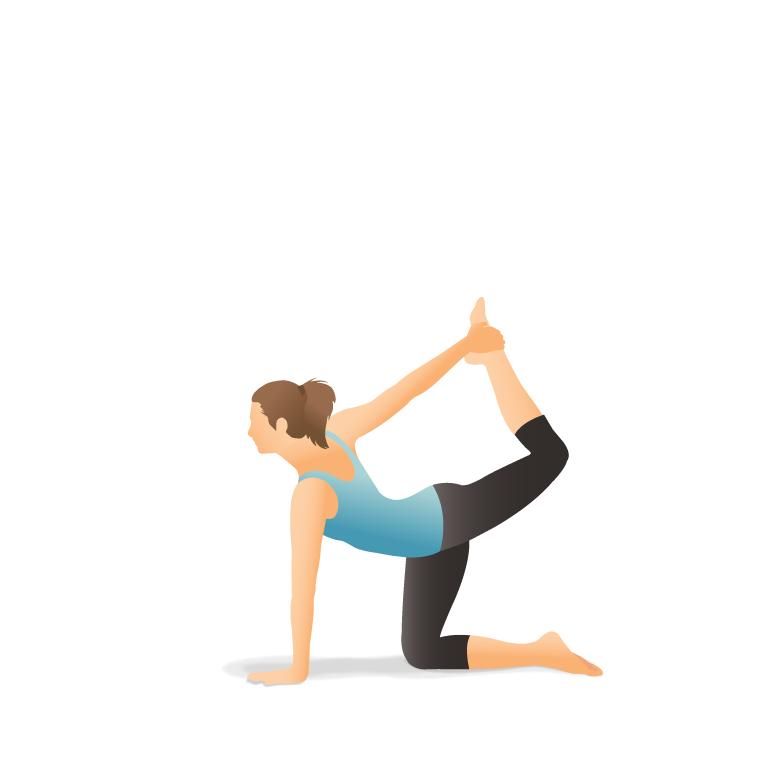 Half-Bow-gerakan-yoga-mengurangi-nyeri-haid