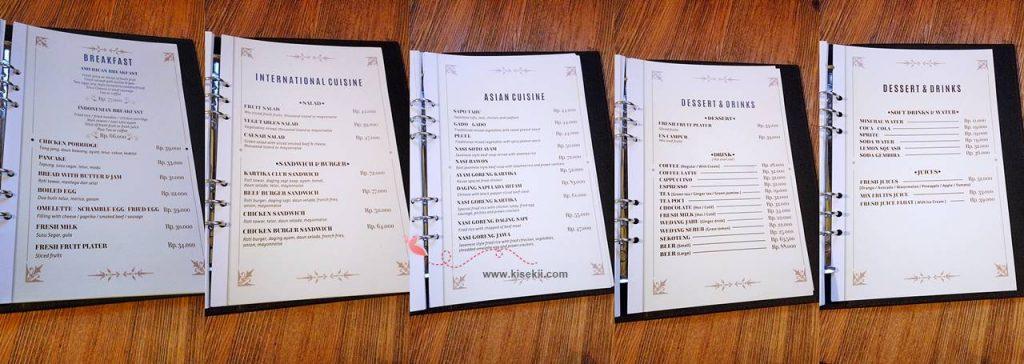 kartika-wijaya-room-service-menu