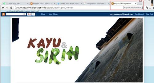 Kayu Sirih's Blog