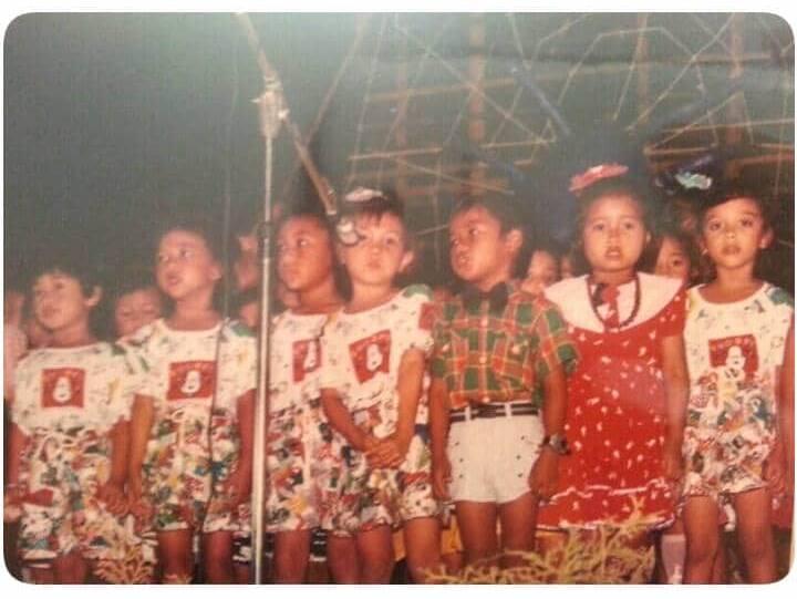 potret masa kecil (ketika perform)